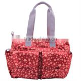Promotional red nylon mummy baby diaper travel tote bag