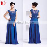 fashion style dress short sleeve beaded long dress for porm gowns low chiffon muslim evening dress
