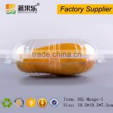 Disposable Plastic Mango Packing Box with fruit shape