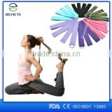 Hot new products for 2016 multi-color yoga strap ,exercise yoga strap ,D-Ring buckle cotton yoga strap