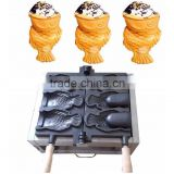 Hot sale snack equipment 110v 220v electric 3pcs open mouth korean fish waffle maker,ice cream fish shape waffle baker