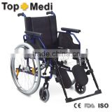 Rehabilitation Therapy Supplies Aluminum Foldable Aluminum Manual Wheelchair for Handicapped