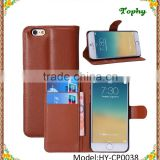 "Factory Wholesale 9 Colors 4.7"" PU + PC Litchi Wallet Card Holster Flip Cover Stand Case For iphone 6"