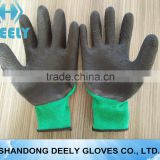 EN388 outside 13 gauge nylon and inner 7 gauge acrylic double liner 3/4 coated foam latex gloves thermal