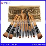 Eco-friendly Makeup Brush Set Goat Hair 9 pcs Mini Essential Cosmetic Brushes with Cup Holder