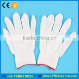 China Manufacturer Safety Working 13 Gauge White Polyester Knit Nylon Glove