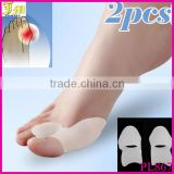 Wholesale New 1 x Pair Silicone Gel Pad Bunion Toe Protector Separator Straighteners Corrector Eases Foot Pain