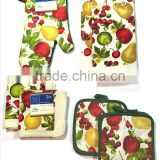 Easter Holiday Baking Cookies Colorful Dish Towels Pot Holder Oven Mitt Set