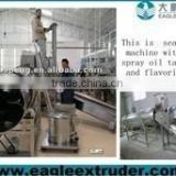 DP Best price bugle chips/ snack pellet/popcorn twin rollers seasoning machine making factory in china
