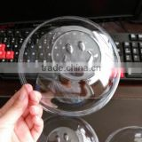High transparent BOPS bowl lid for paper cake bowl/ Smailing face bowl lids for cake box