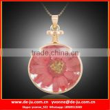 Newest Flower Design Gold Necklace