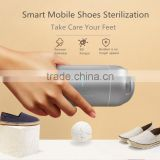 2017 New Arrival Innovative Smart Mobile APP Control Shoe Sterilizer, Mini Aluminum Capsule Design Oxygen Anion Shoe Sterilizer