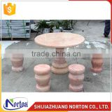 Decorative outdoor decorative four seater marble bench and dining table NTS-B008LI
