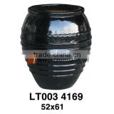 Vietnam Round High Quality Black Porcelain Pottery For Wholesalers