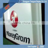 vacuum forming of moneygram's advertising signs