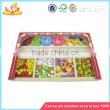 Wholesale beautiful wooden threading beads toy brain training wooden threading beads toy W11E002