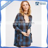 plain vintage sexy school girl plaid long sleeve party wear lady shirt dress manufacturer stays brand designs elastic custom