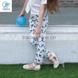 Spring & Summer Kids Girls Long Pants T16302 New Pants Design for Girl Cotton Slim Skinny Children Girls Casual Pants