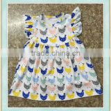 4 year old baby girl woolen cute anmial print tunic flutter short summer wear dress