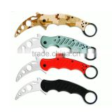 Claw Knife Paw Folding Knife Outdoor Camping Tool G10 handle Karambit Knife Factory Direct