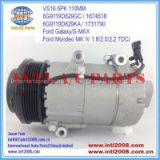 VS16 ac Ford Galaxy S-MAX Mondeo MK IV 1.8/2.0/2.2 TDCi 2006- auto a/c compressor 6G9119D629GA 1435796 1791012 China supplier