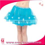 Wholesale cheap tulle pattern blue led lights tutu skirt