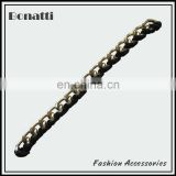 aluminum curb chain with flannelette for garment