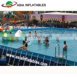Metal Steel Frame Structural Swimming Pool, Metal frame Ground Stand paddle inflatable Swimming Pool for CE