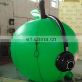 beautiful green advertising inflatable apple model inflatable vegetable and fruit