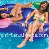 Inflatable Double Swim Ring with Backrest