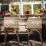 jute burlap wedding favor Mr & Mrs Wedding Party Vintage Style Chair Decoration Banner Signs