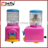 Mini pull line water dispenser toy with candy