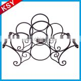Fashionable Superior Quality Decorative Bar Metal Holder Wine Rack For Wall