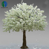 Factory high quality white artificial cherry blossom tree for interior decoration