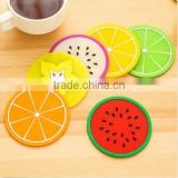 Set of 6 Fruit Coaster Colorful Silicone Tea Cup Drinks Holder Mat Pads Placemat