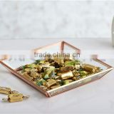 Antiquities beautiful golden serving tray set/metal tray/tray                                                                         Quality Choice