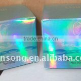 blue laser lamination decotative paper boxes, shiny paper box for packaing with own design