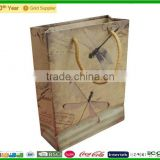 High quality Kraft Paper Shooping Bag with Brand with handles