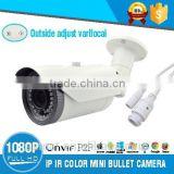 H.264 Security Camera System 2.0MP HD IP Color Outside Adjust IR Bullet Camera with Good Quality China Supplier