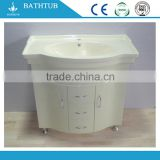 PVC white painted particle board side good price bathroom vanity Cabinet