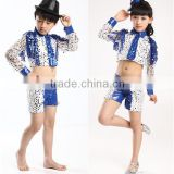 In stock Western dance costumes sequined jazz dance dress performance dancewear boys dance costumes