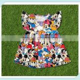 mouse flutter sleeve feather tops baby wholesale kids clothing girls boutique dress clothes