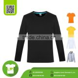 Men's Double Dry long-sleeved black shirt, tee t shirts manufacturers in china