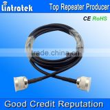 communication cables wire 15meters with 2 N-female connectors 5D jumper cable wire for cellphone signal booster use