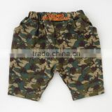 children garment Japanese wholesale high quality cute fashion baby clothing boy's polyester and cotton camo pants for infants