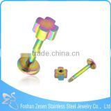 surgical steel fashion element design 14G cheap cross labret piercing body jewelry