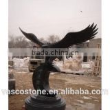 garden product carving stone granite eagle statue