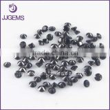1.0mm 1.25mm 1.5mm synthetic fake black diamond loose zircon stone