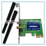 Mini 2T2R 2dBi Built in Wlan PCI-E Card Wireless 300Mbps RT5392 WiFi USB Dongle with External Antenna