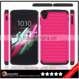 Keno Shining Diamond-studded Armorbox Drop Resistant Silicone Slim Case Cover For Alcatel Idol 3